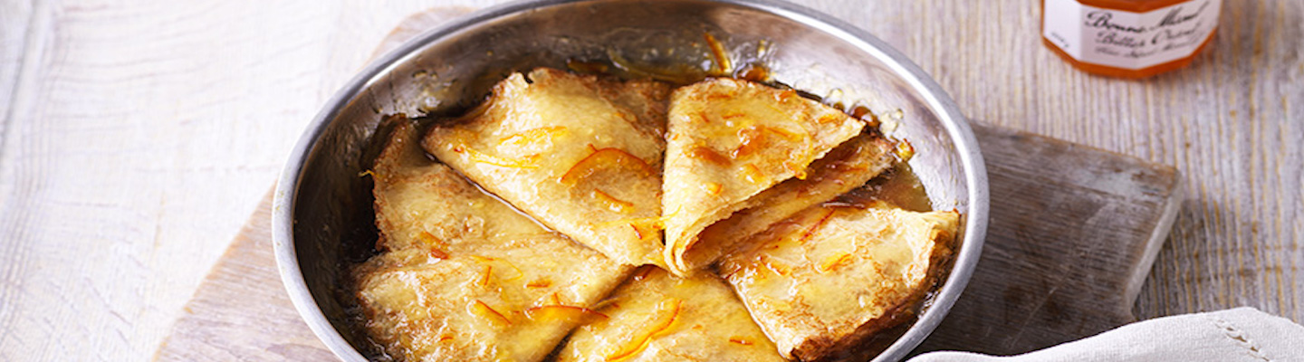 Simple Crêpes Suzette