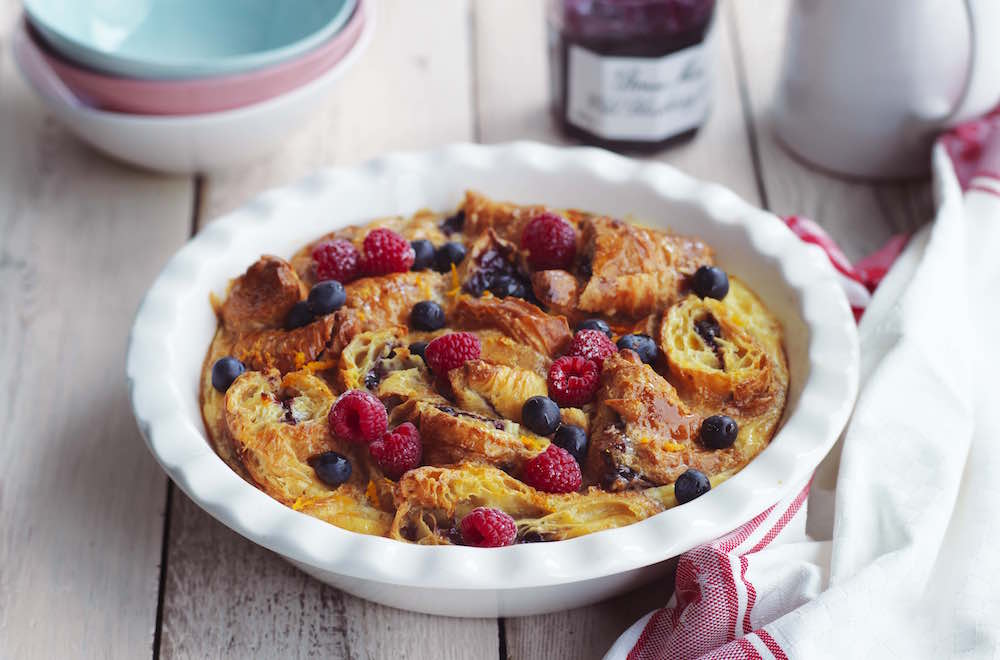 Wild Blueberry Butter Pudding