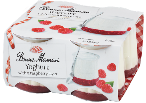 Yoghurt with a Raspberry layer