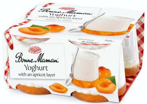 Yoghurt with an Apricot Layer
