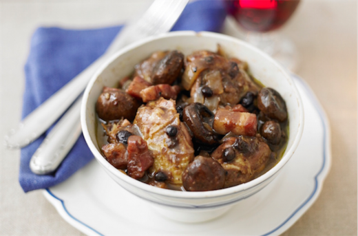 Pheasant, Bacon and Berry Casserole